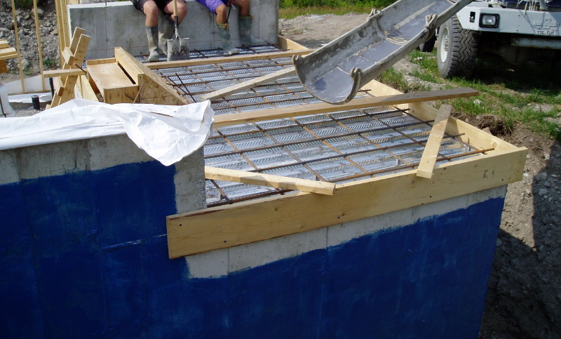 The owner builder experience concrete work for Best weather to pour concrete