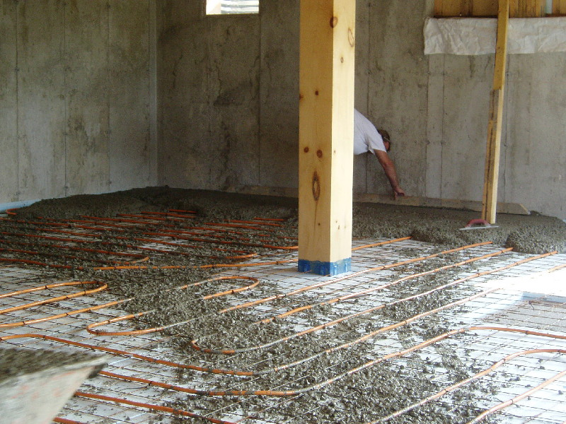 poured concrete floor