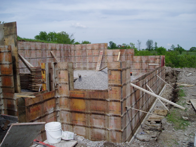 The owner builder experience concrete work for Concrete log forms